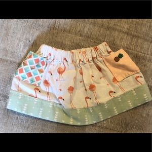 Other - Flamingo Skirt with pockets 0-6 months